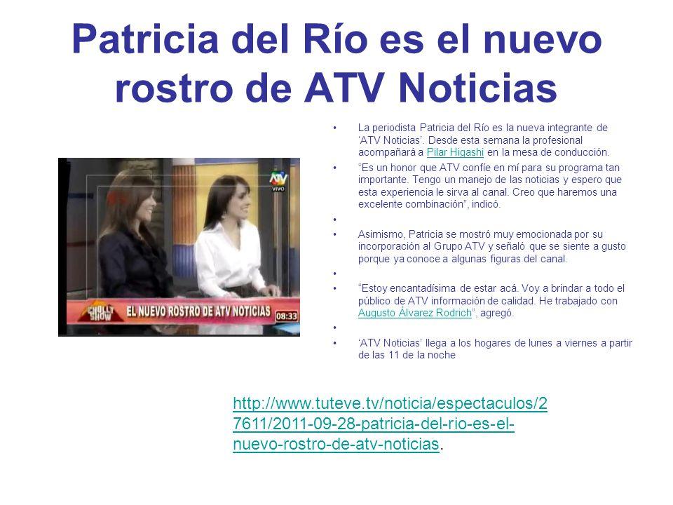 Patricia del Río es el nuevo rostro de ATV Noticias