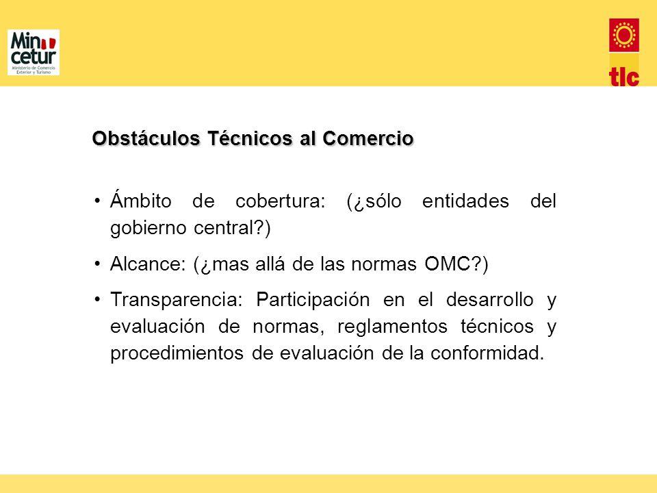 Obstáculos Técnicos al Comercio