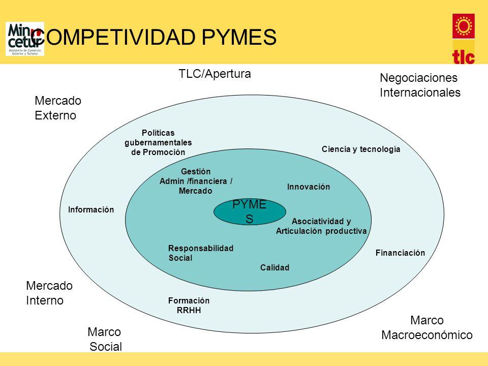 COMPETIVIDAD PYMES TLC/Apertura Negociaciones Internacionales Mercado