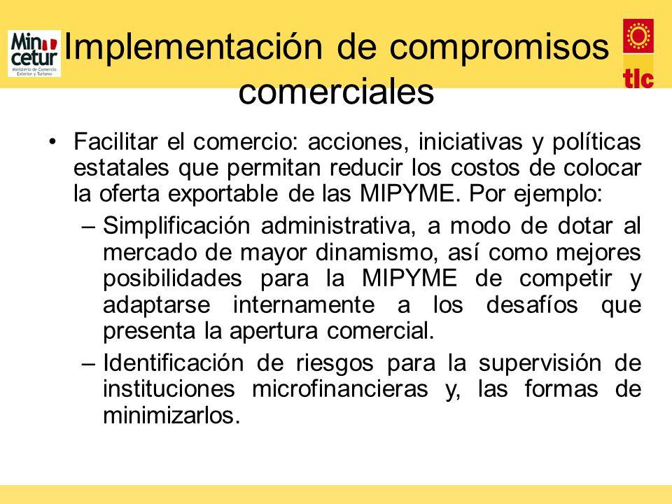 Implementación de compromisos comerciales