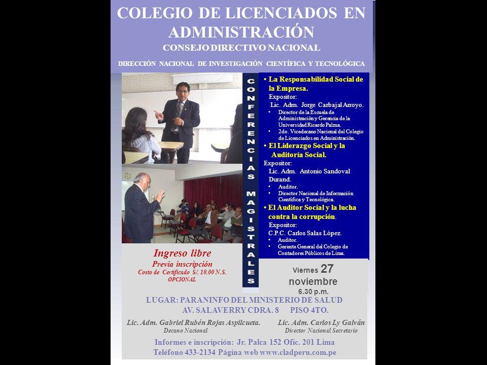 COLEGIO DE LICENCIADOS EN ADMINISTRACIÓN