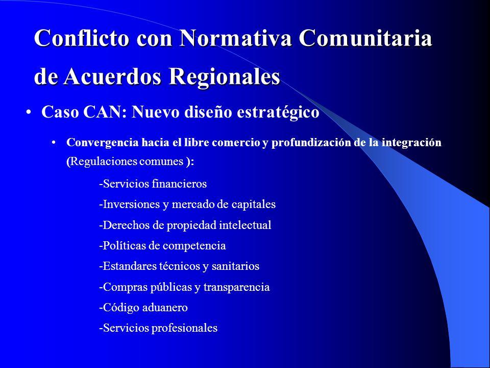 Conflicto con Normativa Comunitaria de Acuerdos Regionales