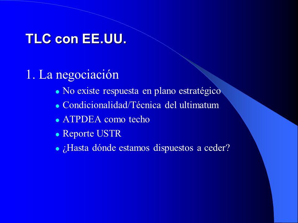TLC con EE.UU. 1. La negociación