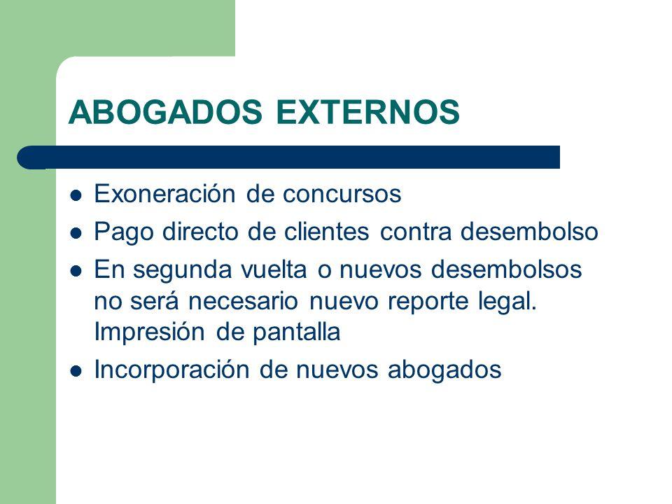 ABOGADOS EXTERNOS Exoneración de concursos