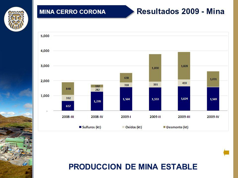 PRODUCCION DE MINA ESTABLE