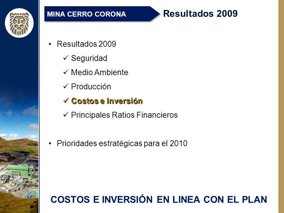 COSTOS E INVERSIÓN EN LINEA CON EL PLAN