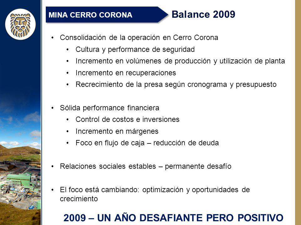 2009 – UN AÑO DESAFIANTE PERO POSITIVO