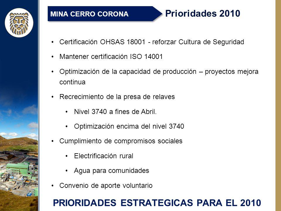 PRIORIDADES ESTRATEGICAS PARA EL 2010