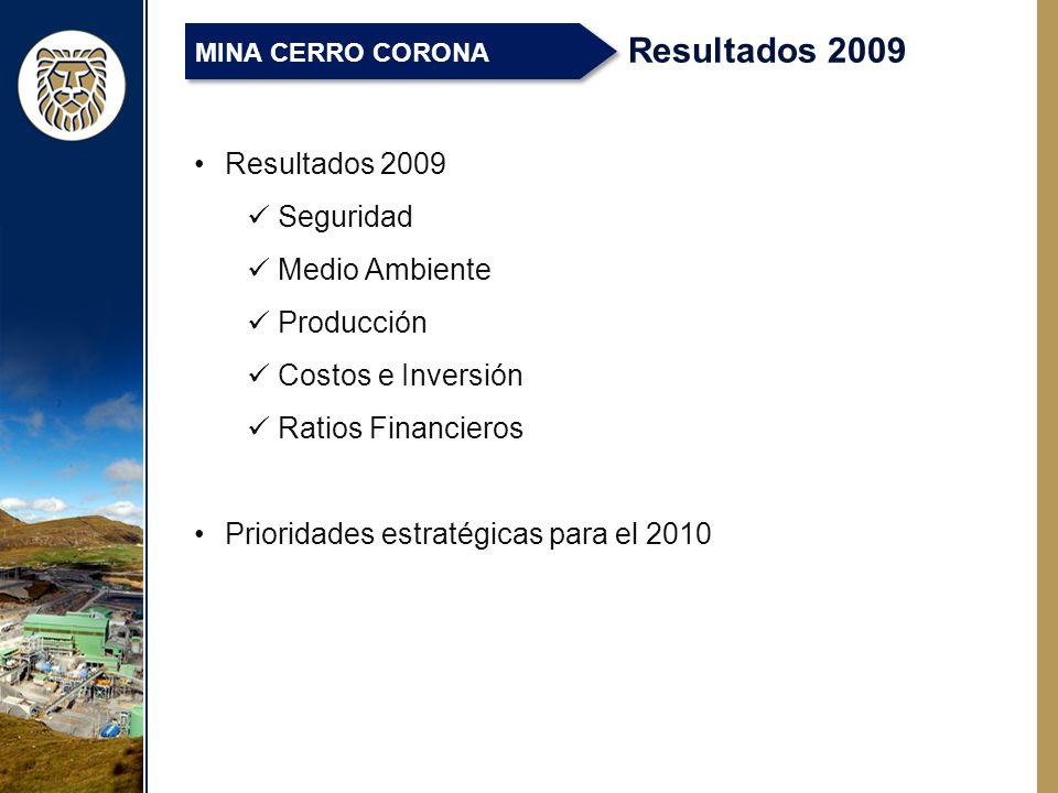 Resultados 2009 Resultados 2009 Seguridad Medio Ambiente Producción