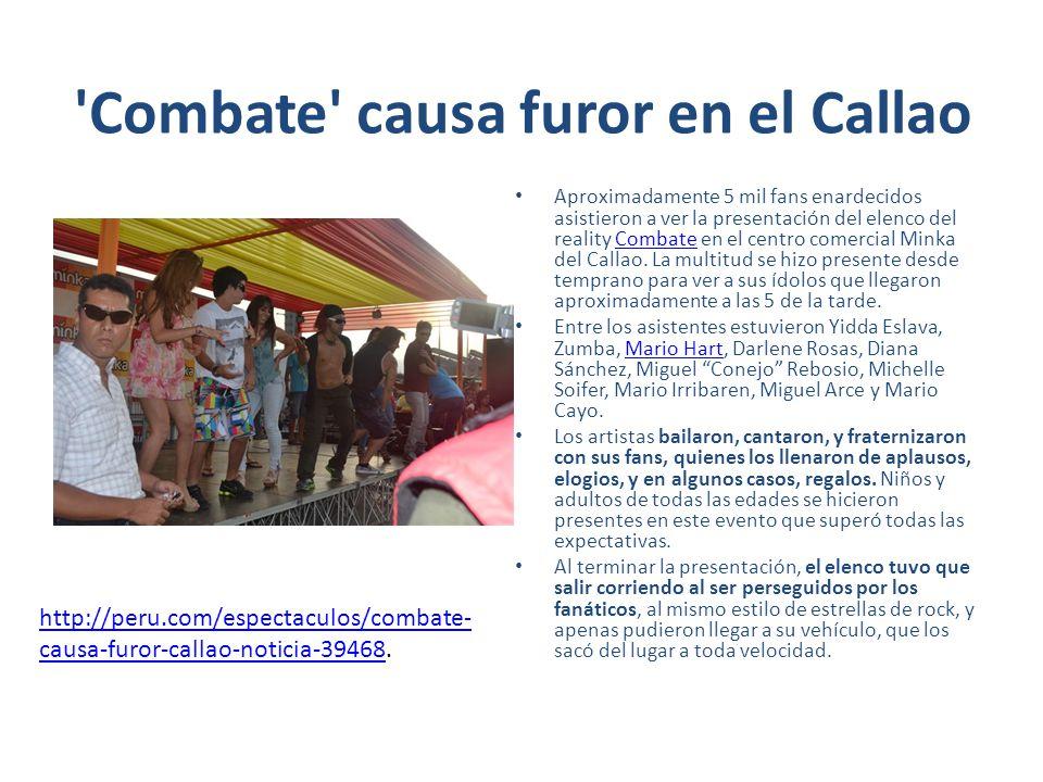 Combate causa furor en el Callao