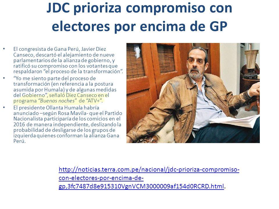 JDC prioriza compromiso con electores por encima de GP