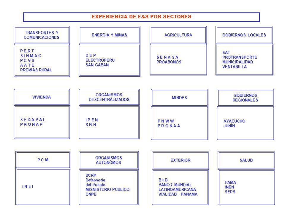 EXPERIENCIA DE F&S POR SECTORES