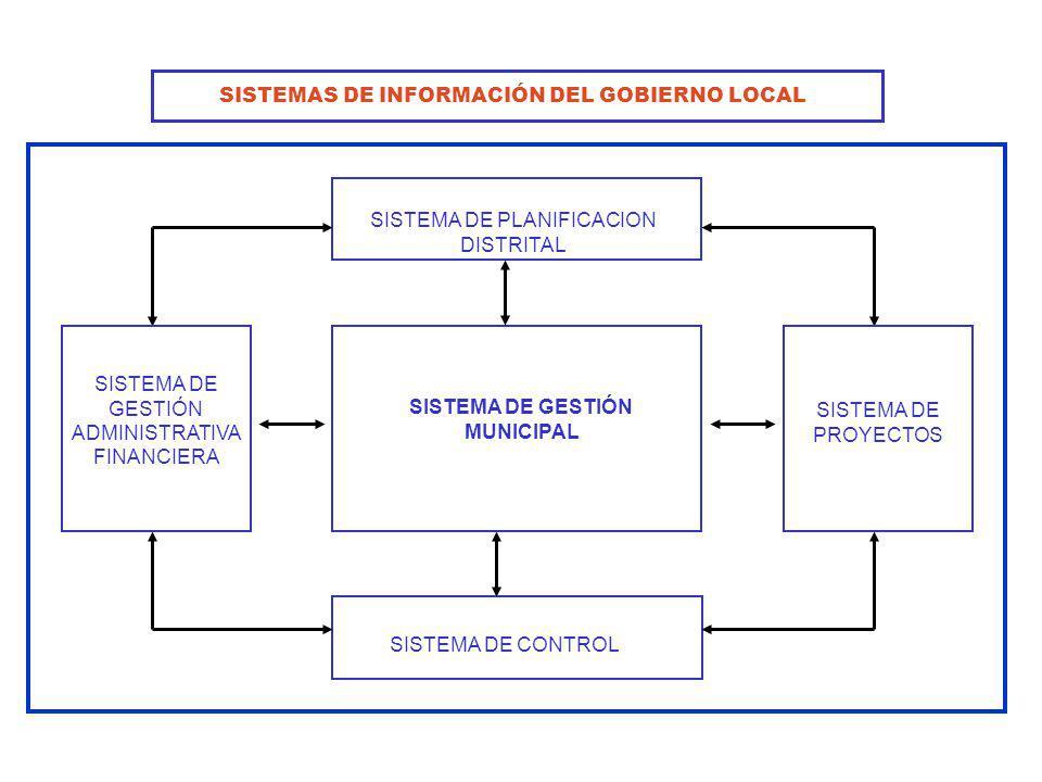SISTEMAS DE INFORMACIÓN DEL GOBIERNO LOCAL