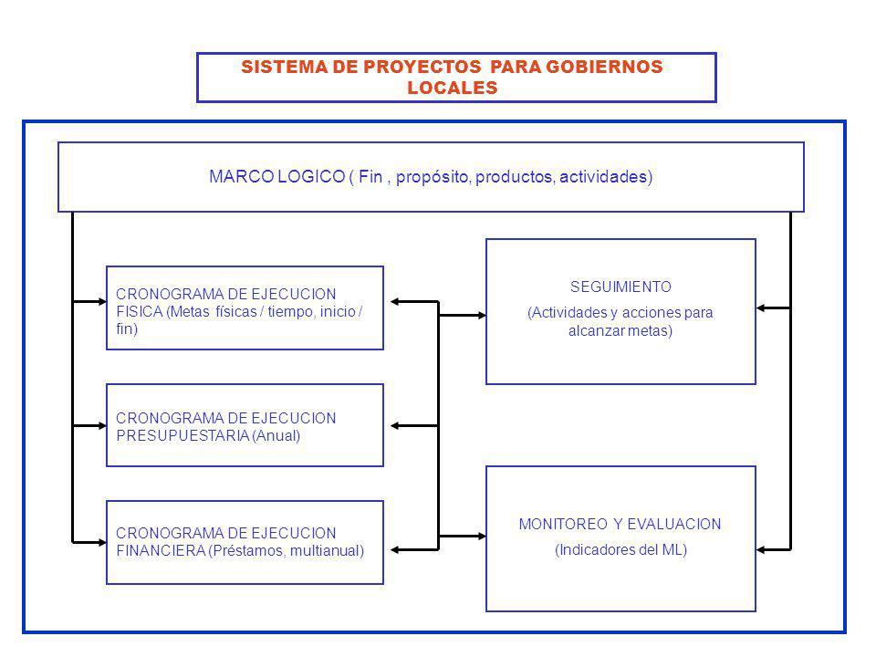 SISTEMA DE PROYECTOS PARA GOBIERNOS LOCALES