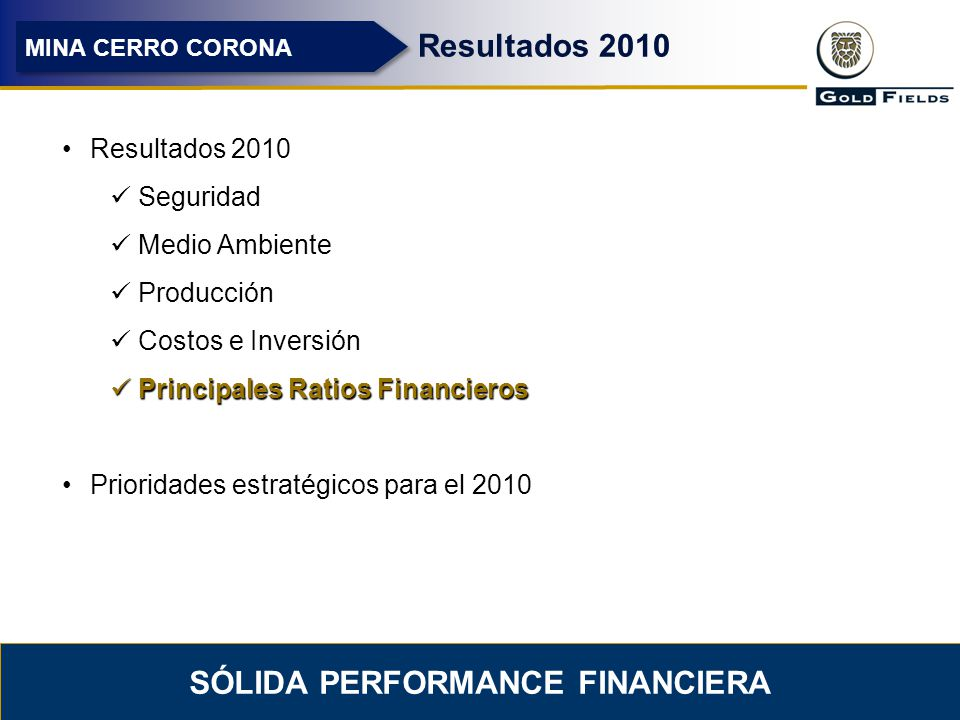 Sólida performance financiera