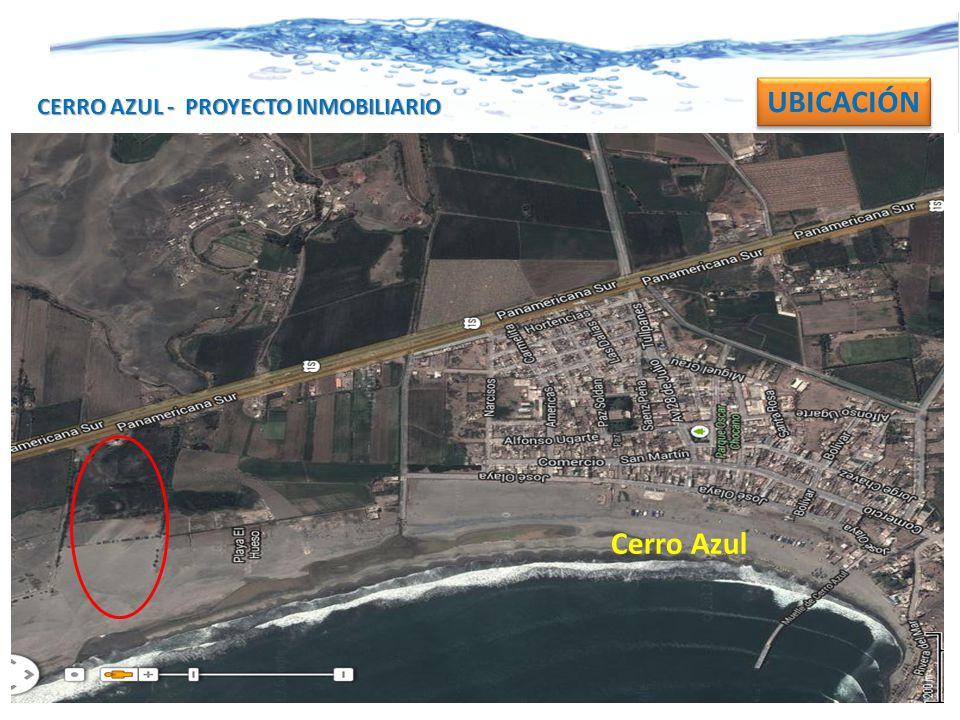 UBICACIÓN CERRO AZUL - PROYECTO INMOBILIARIO Cerro Azul