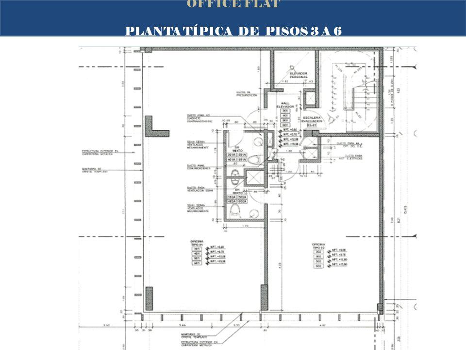PLANTA TÍPICA DE PISOS 3 A 6