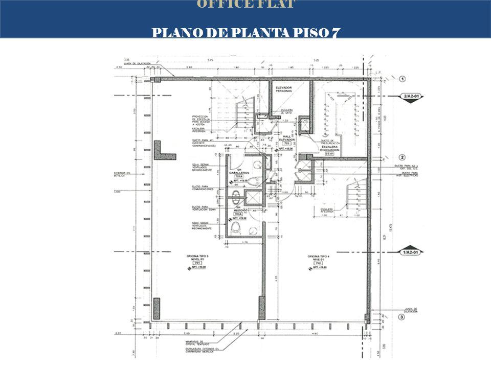OFFICE FLAT PLANO DE PLANTA PISO 7