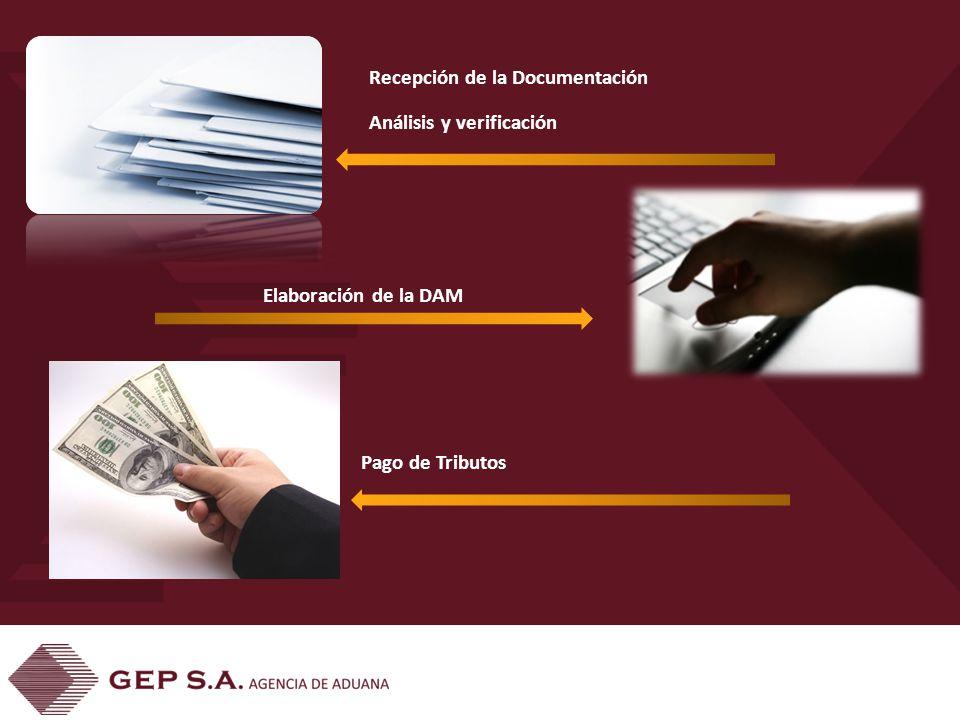 Recepción de la Documentación