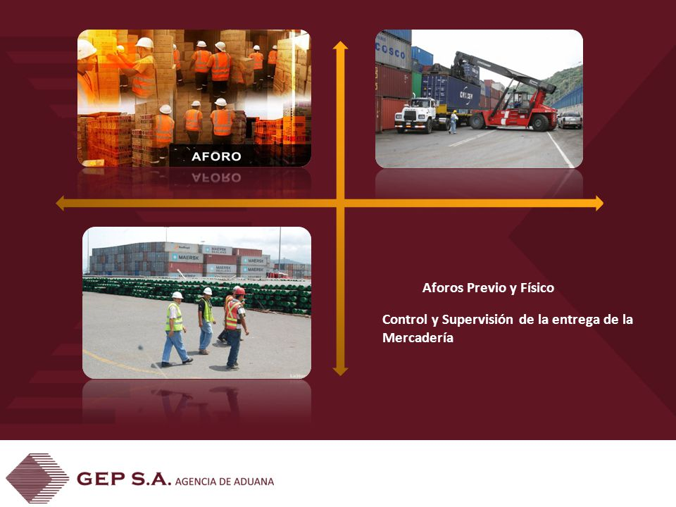Aforos Previo y Físico Control y Supervisión de la entrega de la Mercadería