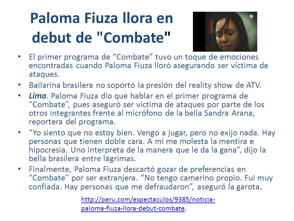 Paloma Fiuza llora en debut de Combate