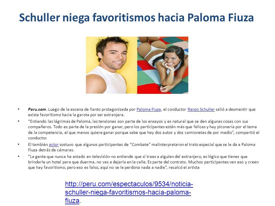 Schuller niega favoritismos hacia Paloma Fiuza