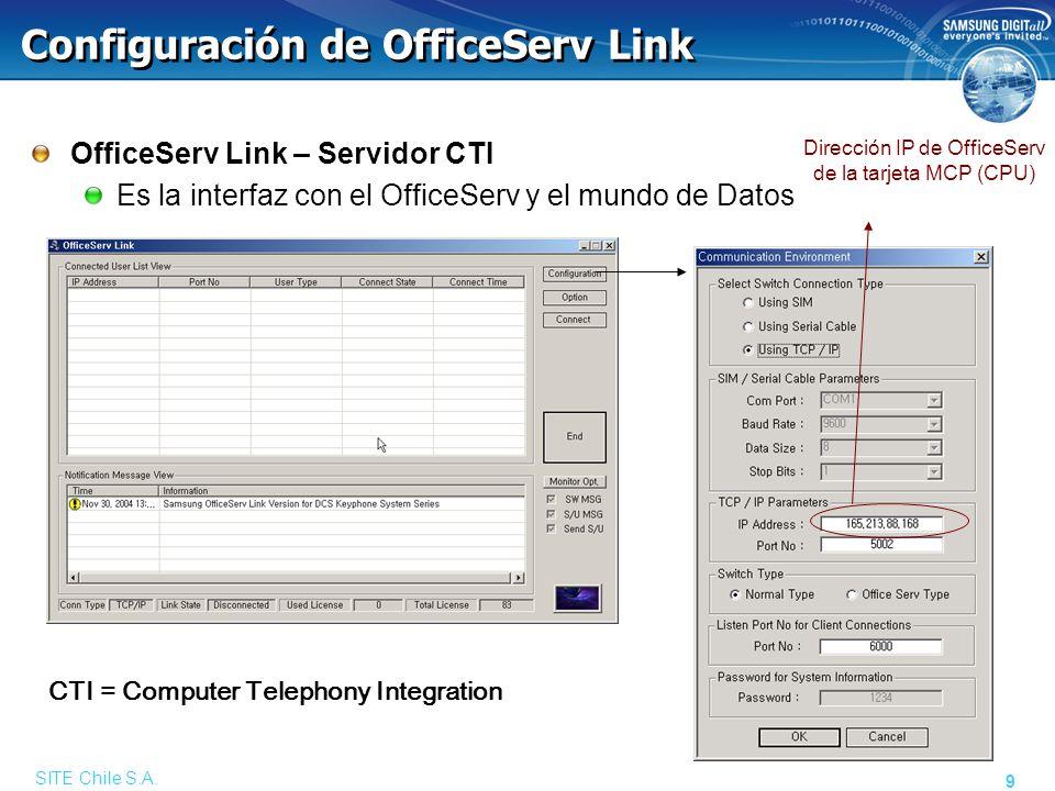 Registro de Licencias Link habilita las facilidades por medio de llaves de licencias. Campo para la llave.