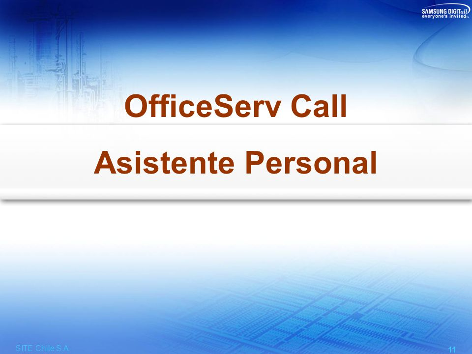 Facilidades del OfficeServ Call (Asistente Personal)