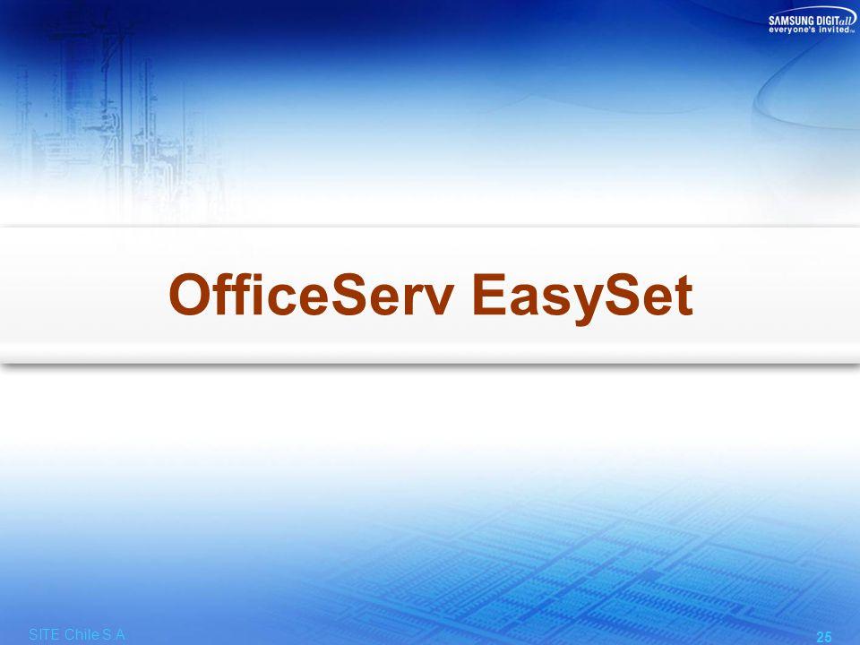Facilidades de OfficeServ EasySet