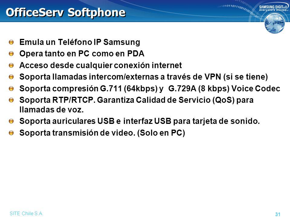 Funciones del OfficeServ Softphone