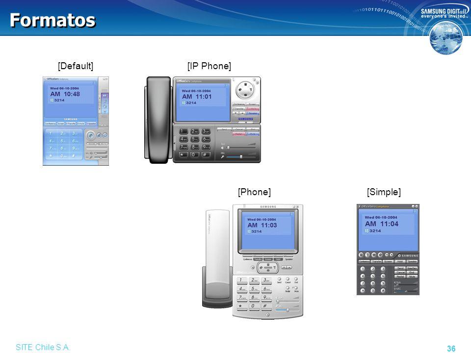 Video Comunicaciones Permite el envío de Imagen SITE Chile S.A.