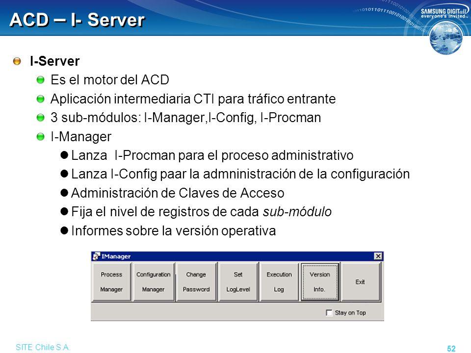ACD – I- Server I-Procman