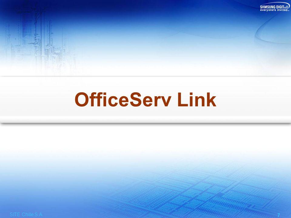 OfficeServ Link Facilidades Distribuye los mensajes CTI