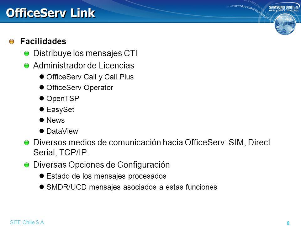 Configuración de OfficeServ Link