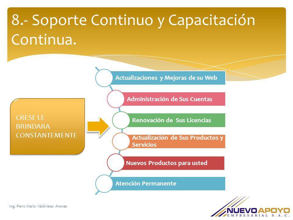 8.- Soporte Continuo y Capacitación Continua.