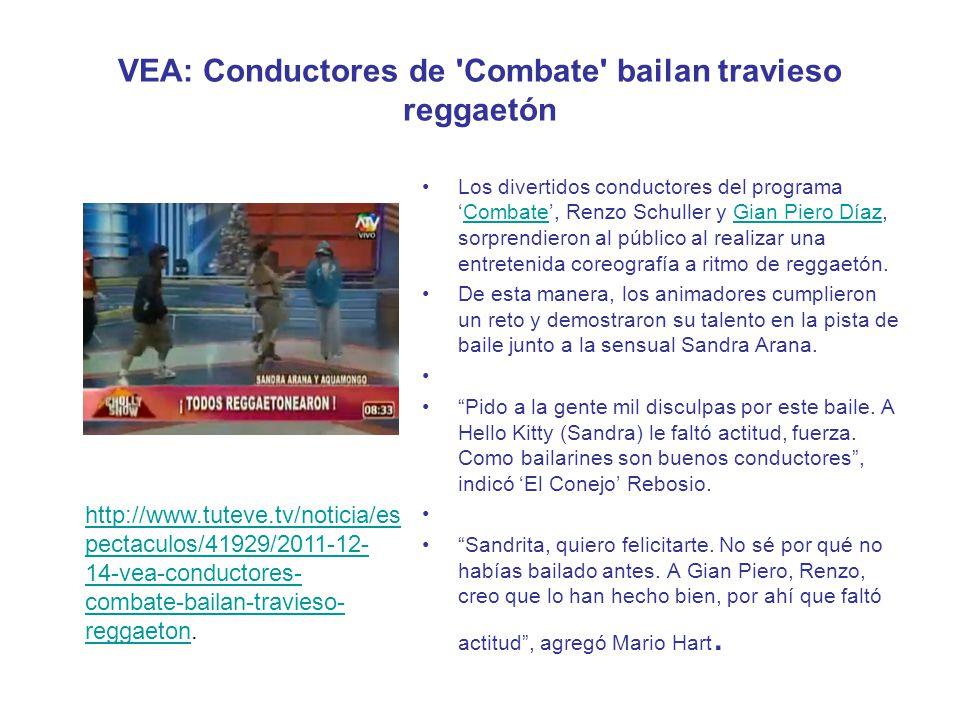 VEA: Conductores de Combate bailan travieso reggaetón
