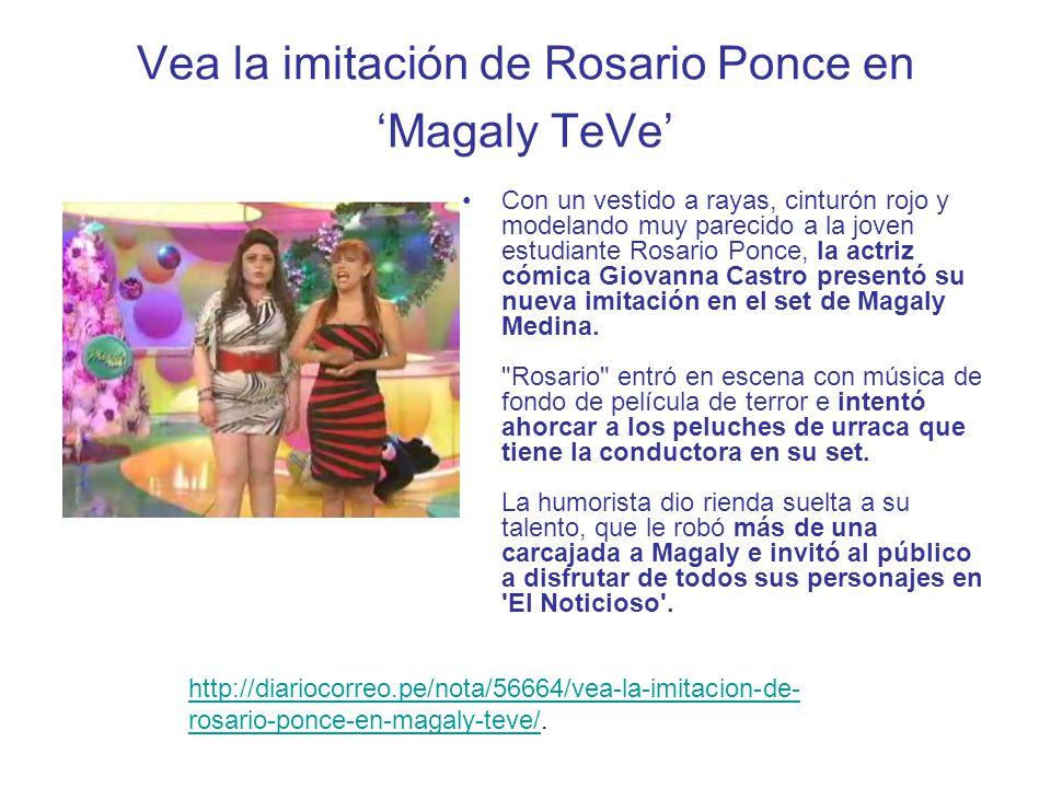 Vea la imitación de Rosario Ponce en 'Magaly TeVe'