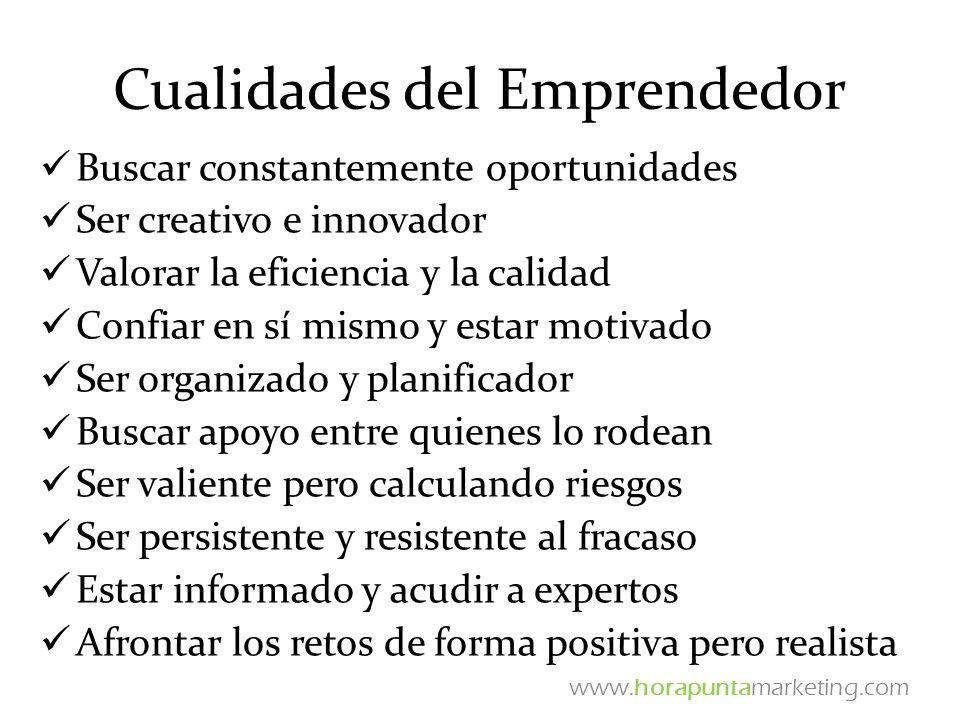 Cualidades del Emprendedor