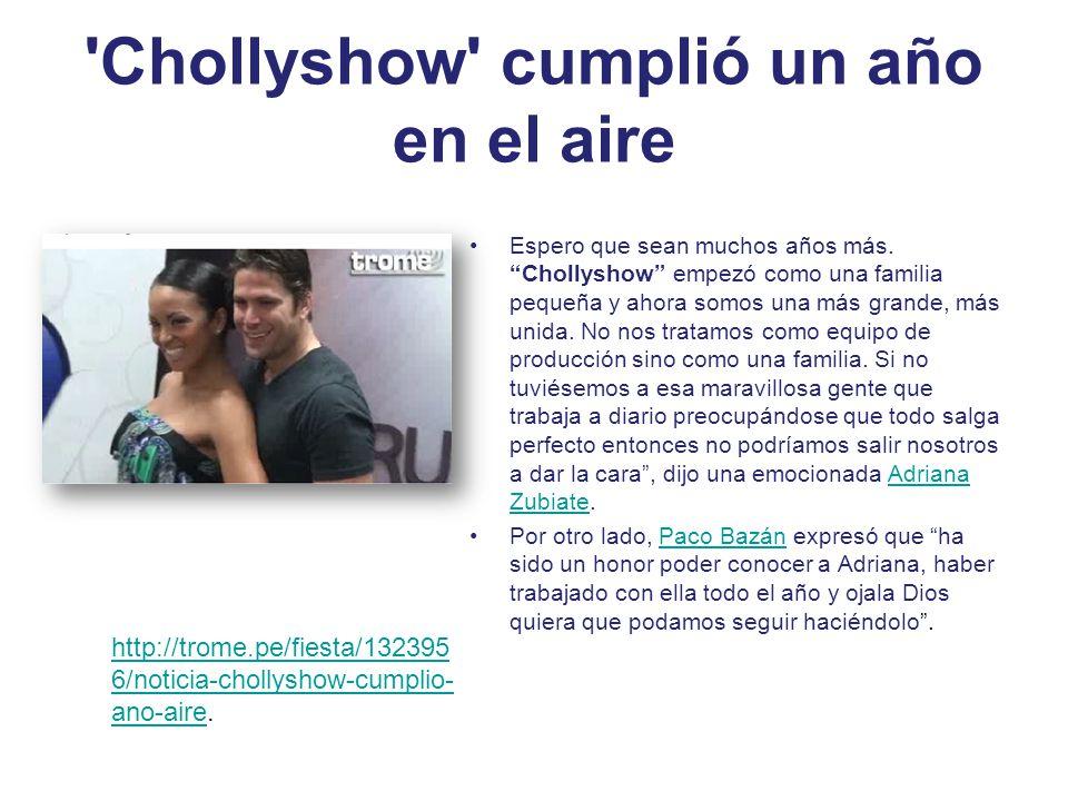 Chollyshow cumplió un año en el aire