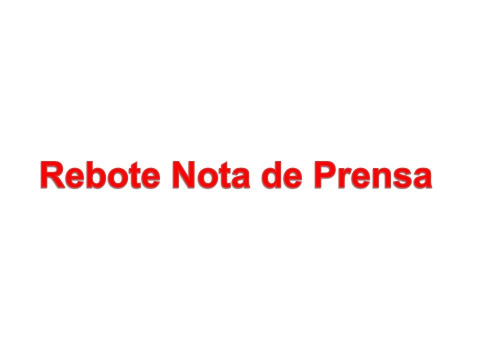 Rebote Nota de Prensa