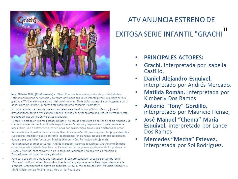ATV ANUNCIA ESTRENO DE EXITOSA SERIE INFANTIL GRACHI