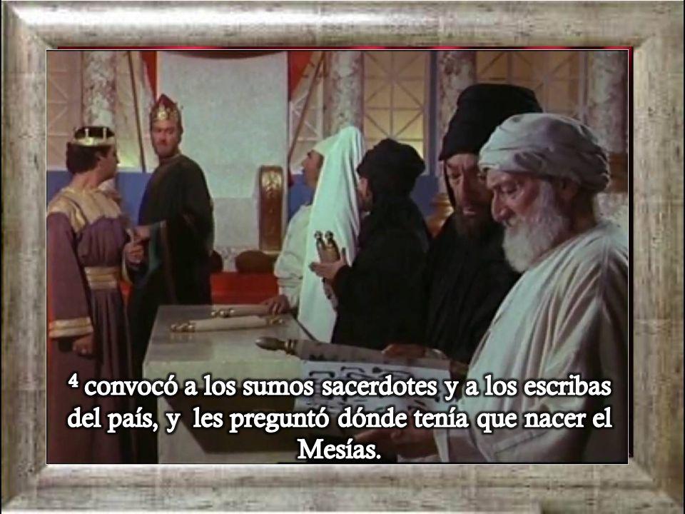 4 convocó a los sumos sacerdotes y a los escribas del país, y les preguntó dónde tenía que nacer el Mesías.