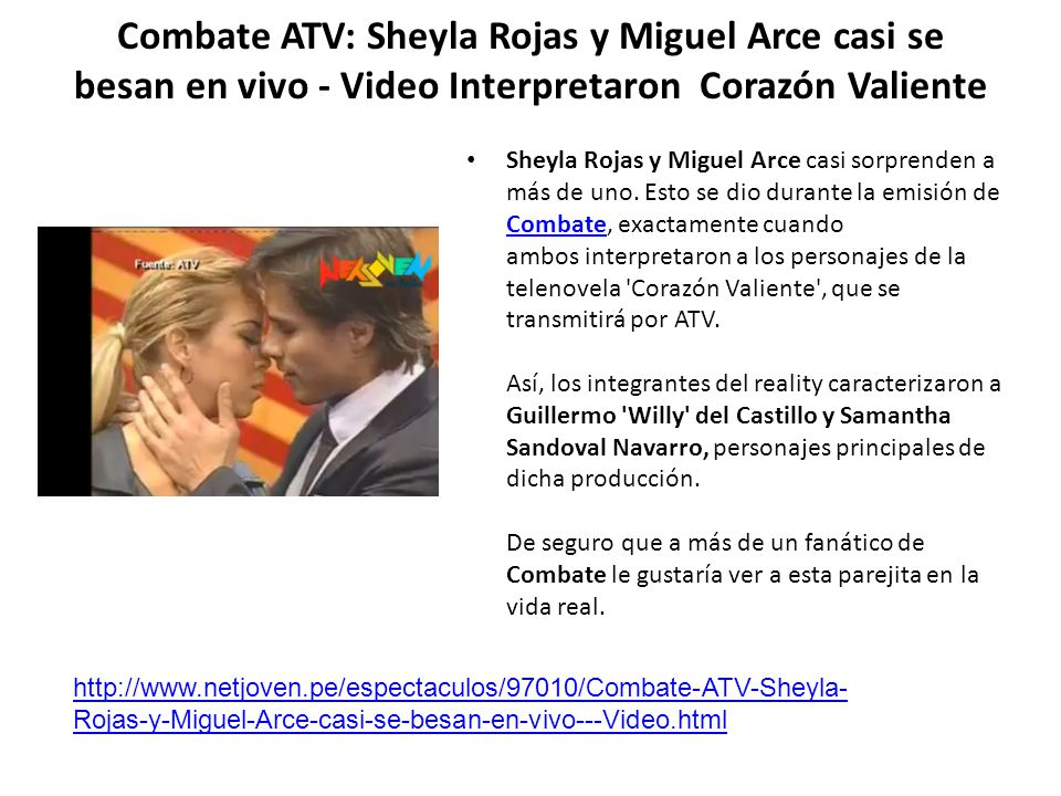 Combate ATV: Sheyla Rojas y Miguel Arce casi se besan en vivo - Video Interpretaron Corazón Valiente