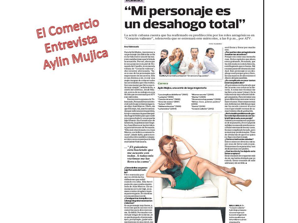 El Comercio Entrevista Aylin Mujica