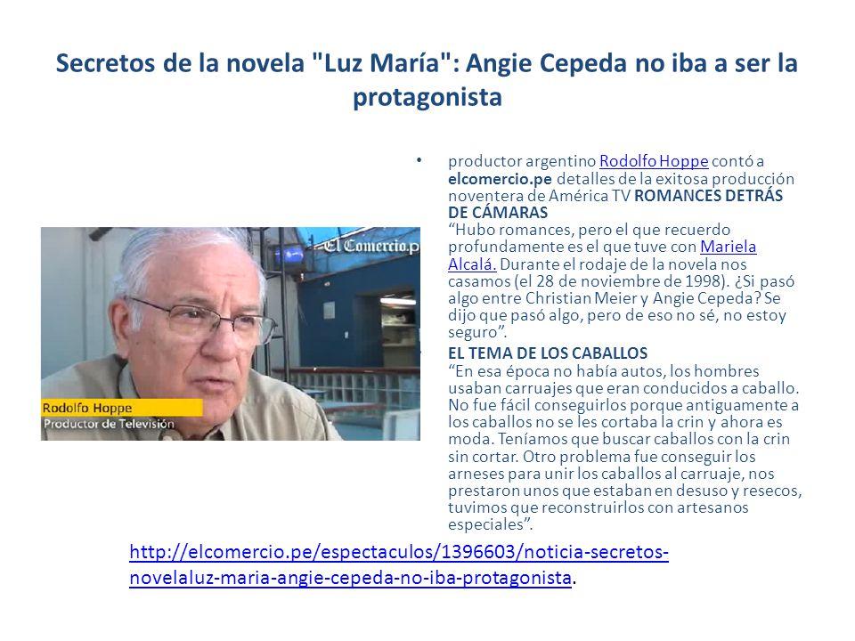 Secretos de la novela Luz María : Angie Cepeda no iba a ser la protagonista