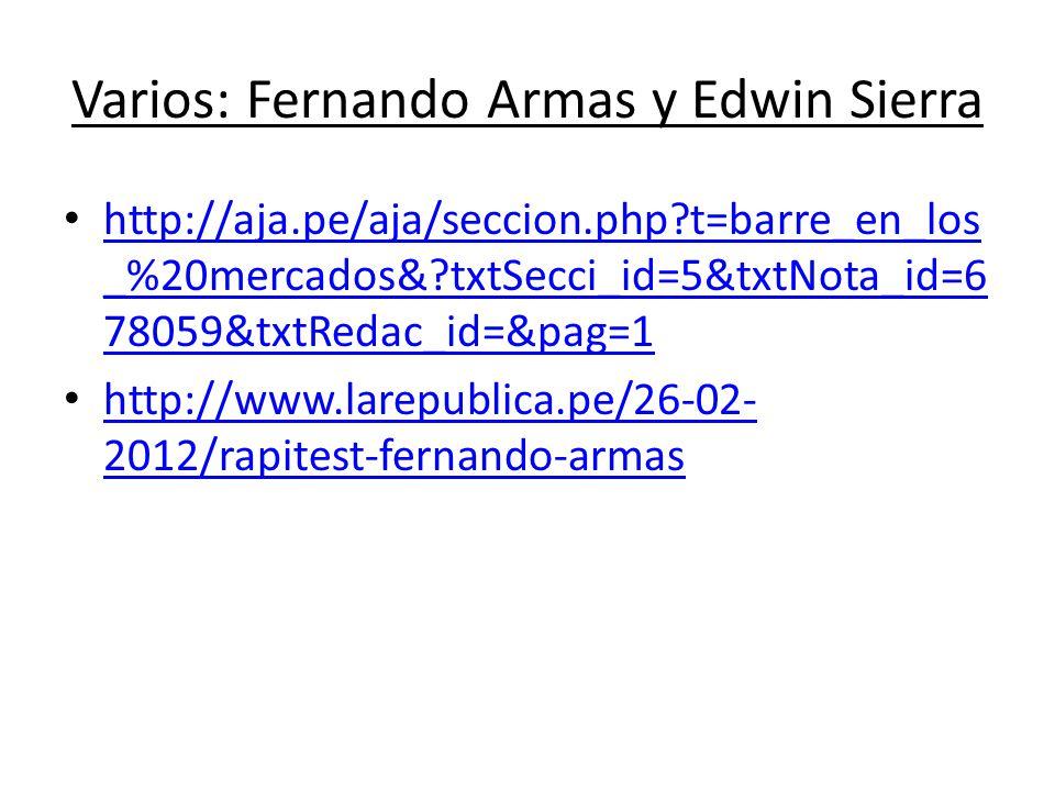 Varios: Fernando Armas y Edwin Sierra
