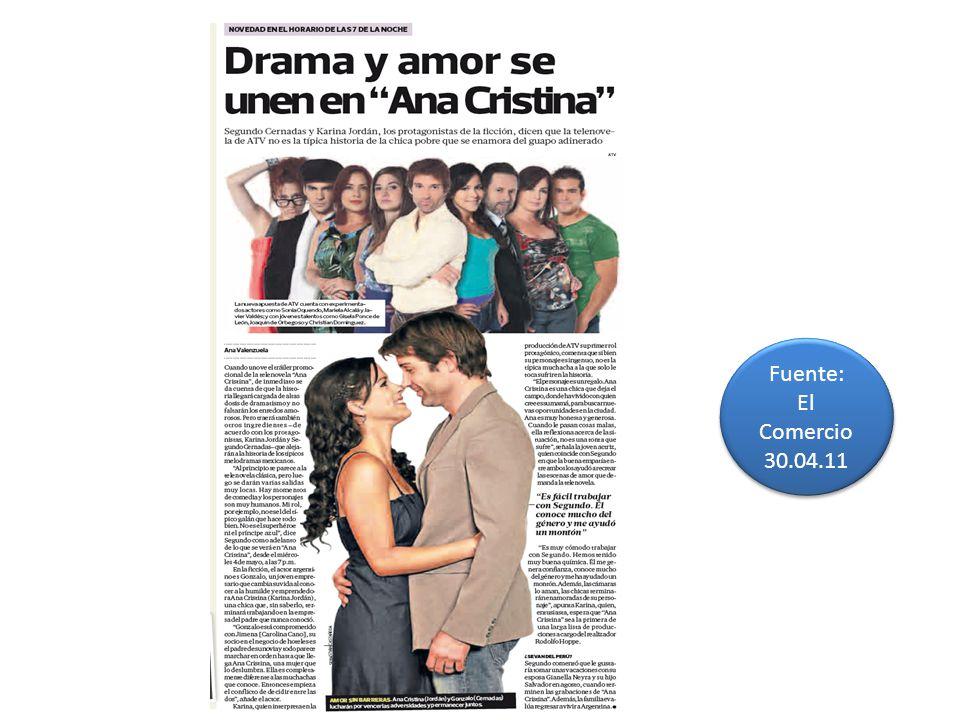 Fuente: El Comercio 30.04.11