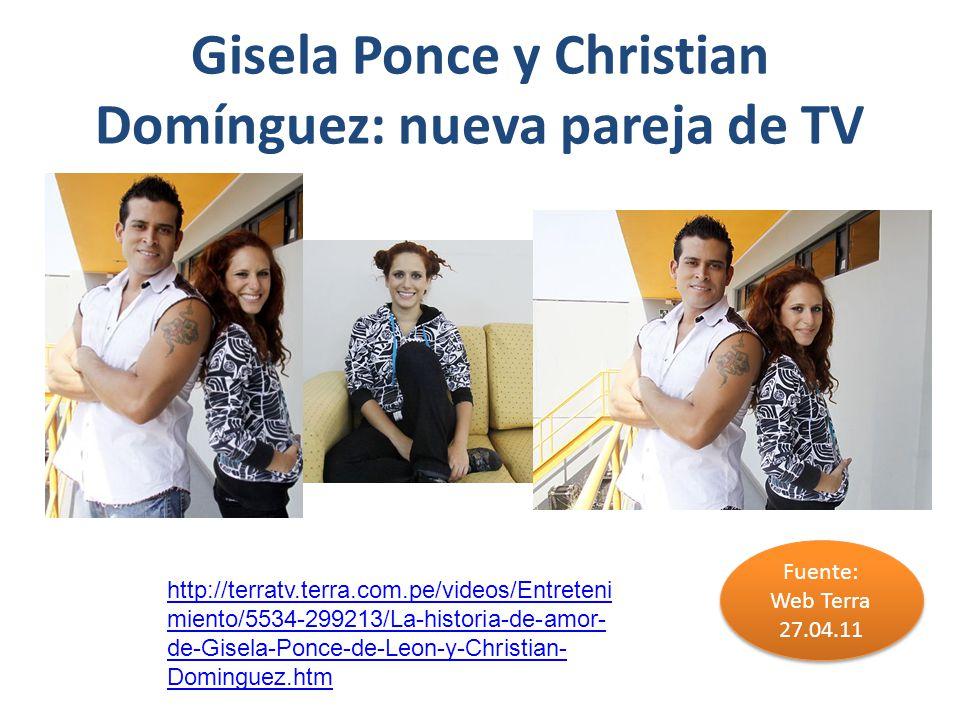 Gisela Ponce y Christian Domínguez: nueva pareja de TV
