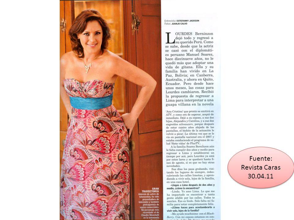 Fuente: Revista Caras 30.04.11