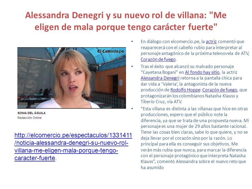 Alessandra Denegri y su nuevo rol de villana: Me eligen de mala porque tengo carácter fuerte